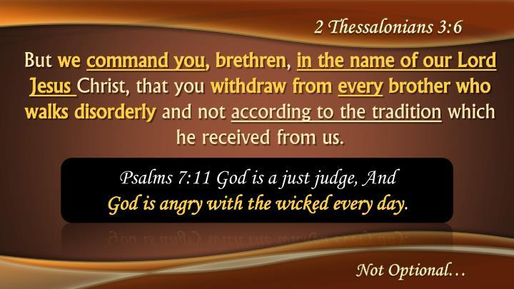 2 Thessalonians 3:6