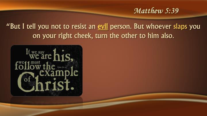 Matthew 5:39
