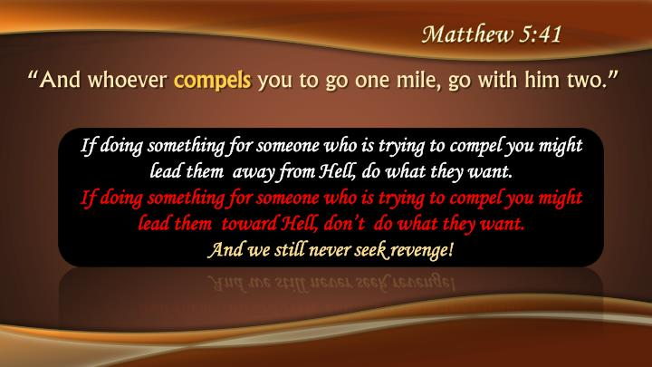 Matthew 5:41