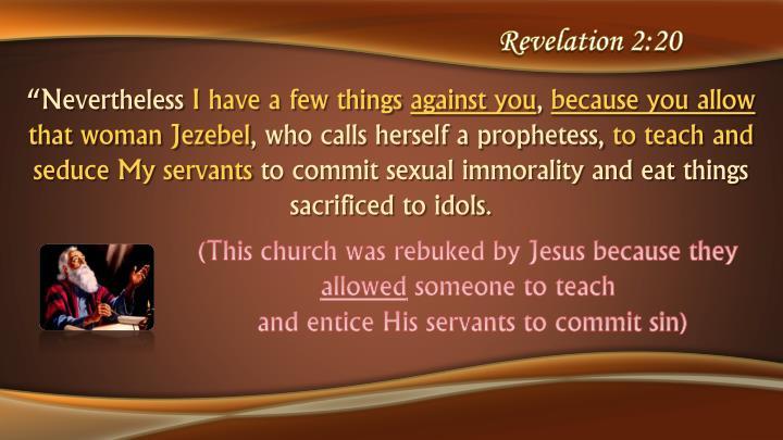 Revelation 2:20
