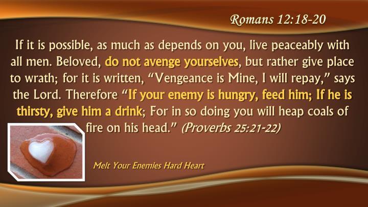 Romans 12:18-20