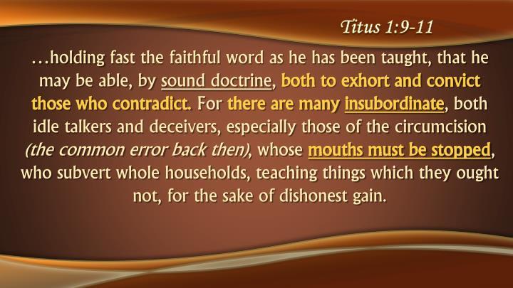 Titus 1:9-11