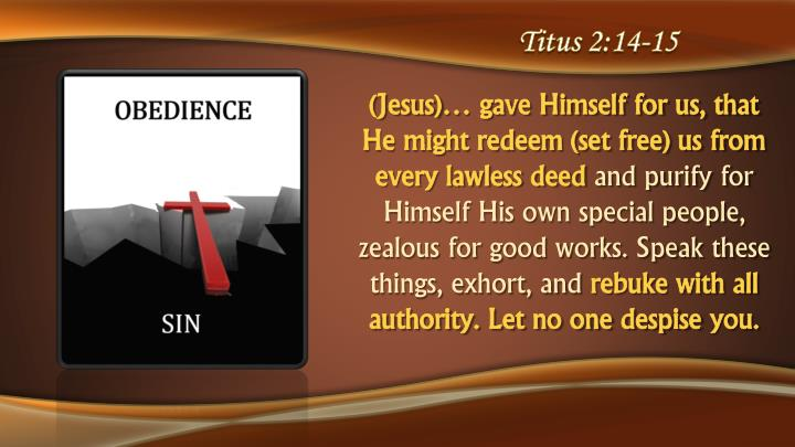 Titus 2:14-15