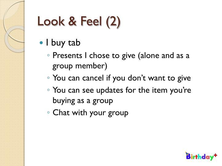 Look & Feel (2)