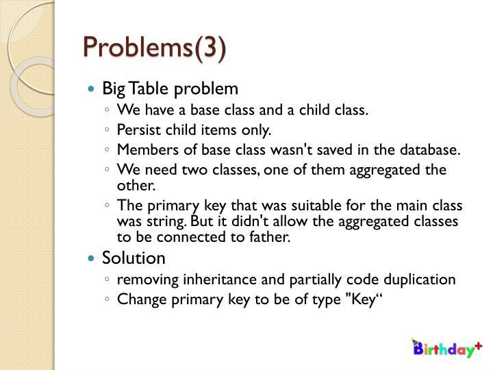 Problems(3)