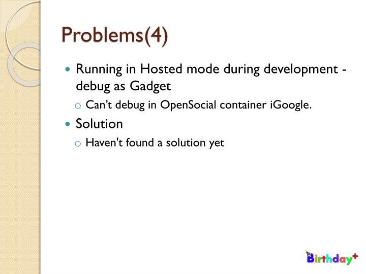 Problems(4)