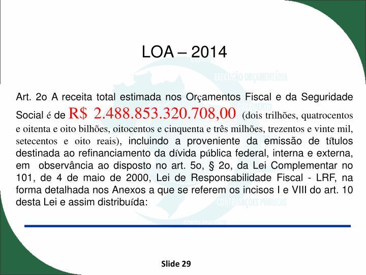 LOA – 2014