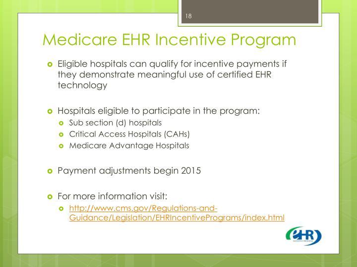 Medicare EHR Incentive Program