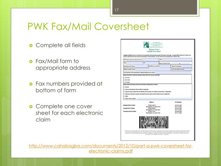 PWK Fax/Mail Coversheet