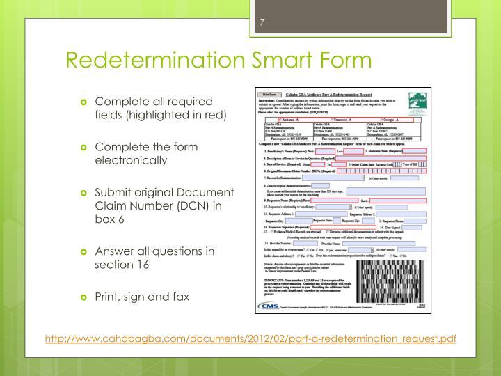Redetermination Smart Form