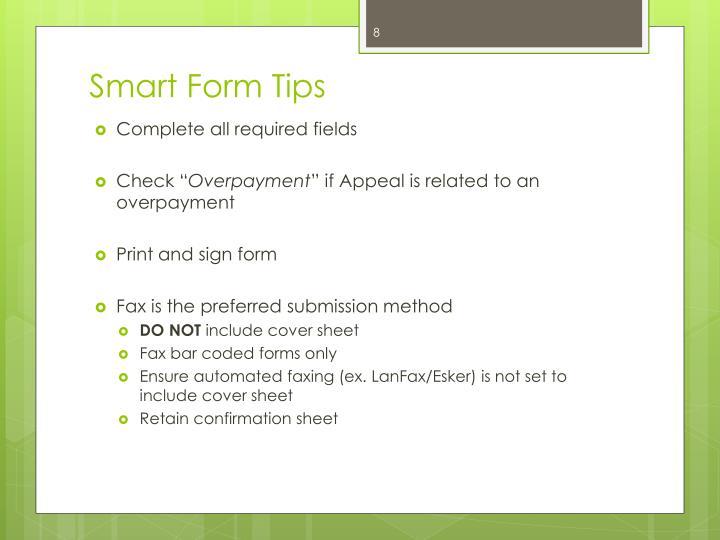 Smart Form Tips