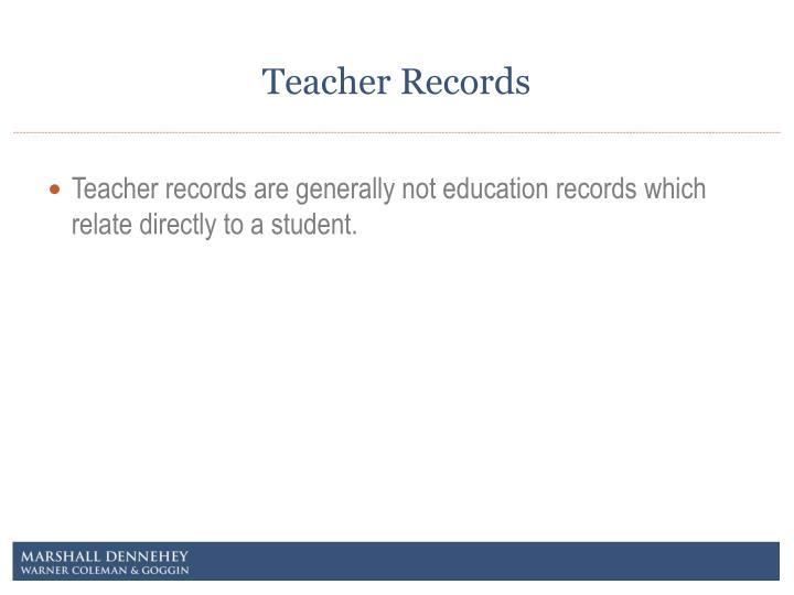 Teacher Records