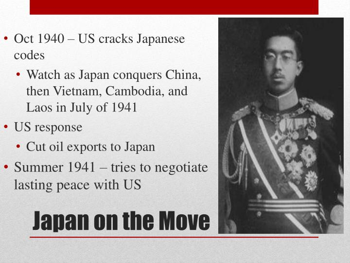 Oct 1940 – US cracks Japanese codes