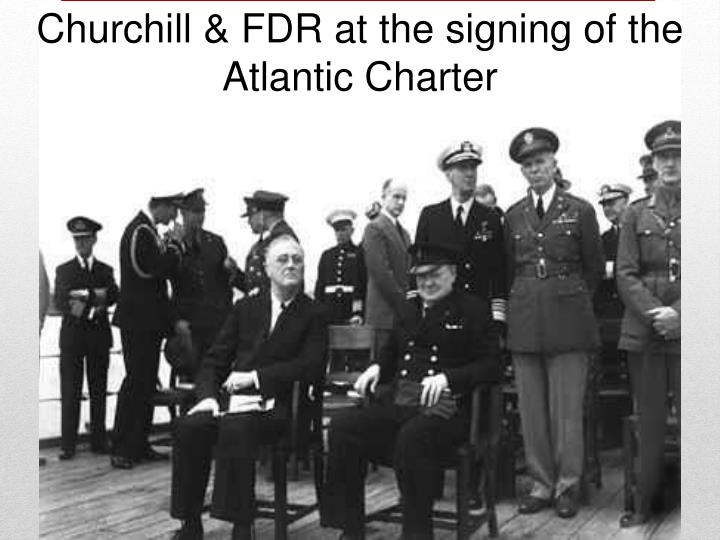 Churchill & FDR at