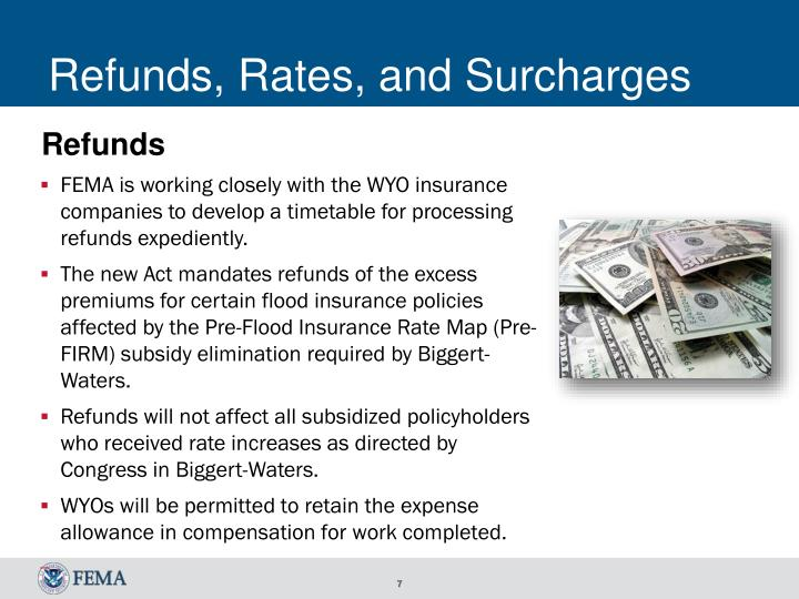 Refunds, Rates, and Surcharges