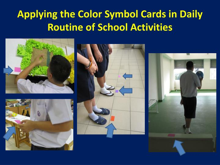 Applying the Color Symbol Cards in Daily Routine of School Activities