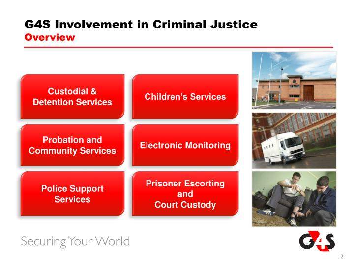 G4S Involvement in Criminal Justice