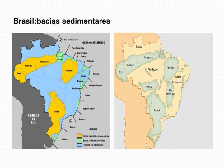 Brasil:bacias sedimentares