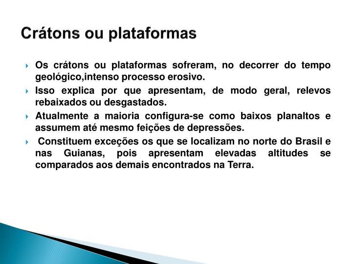 Crátons ou plataformas