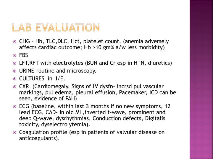 Lab evaluation