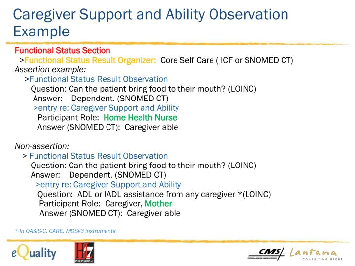 Caregiver Support and Ability Observation