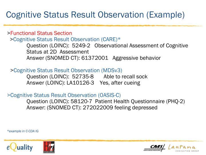 Cognitive Status Result