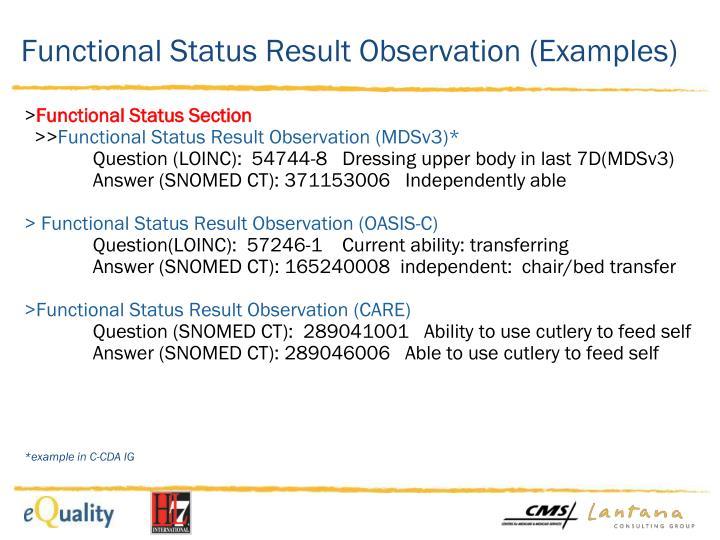 Functional Status Result