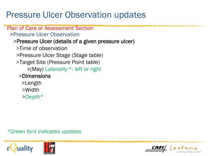 Pressure Ulcer Observation