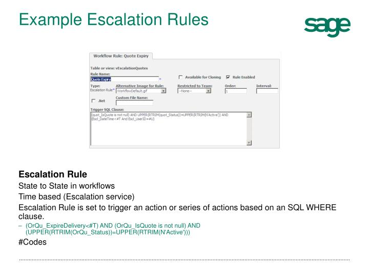 Example Escalation Rules
