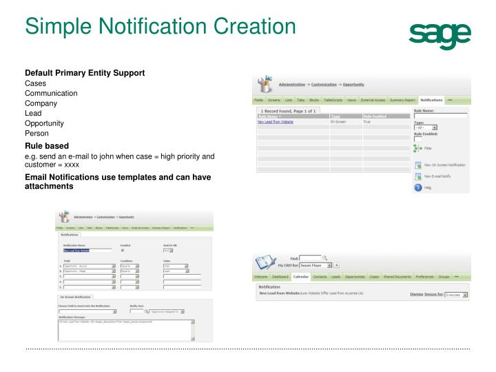 Simple Notification Creation