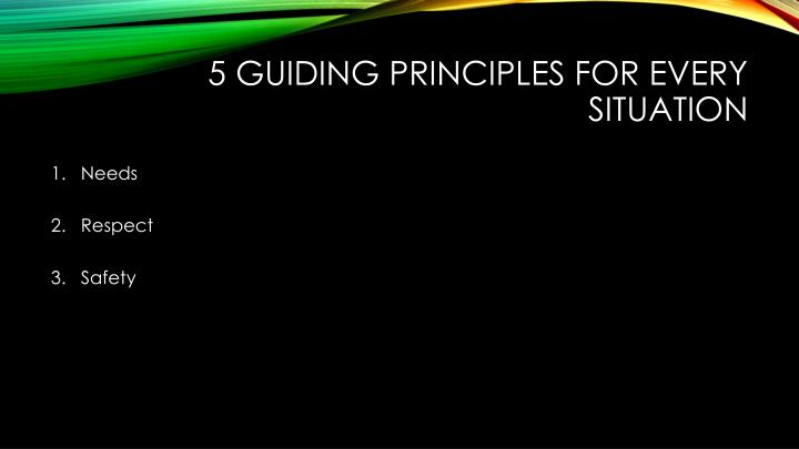 5 Guiding Principles for Every Situation