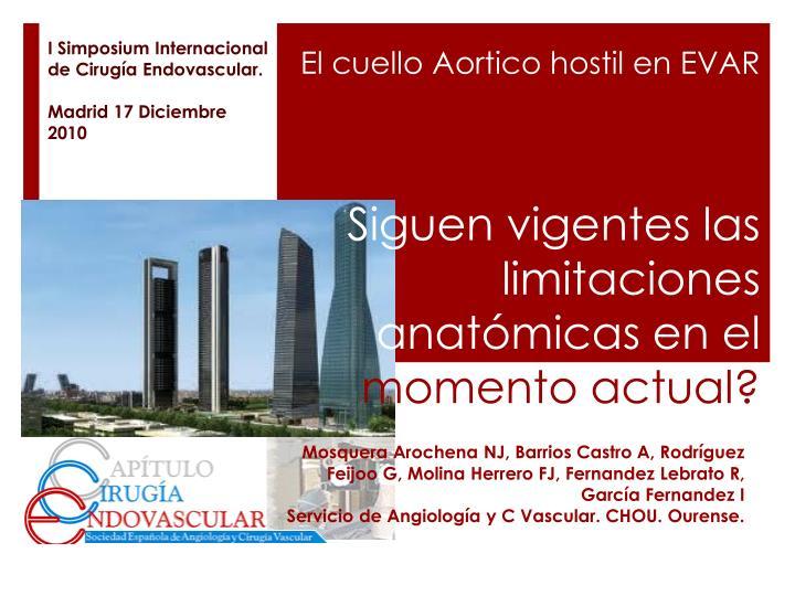 I Simposium Internacional de Cirugía