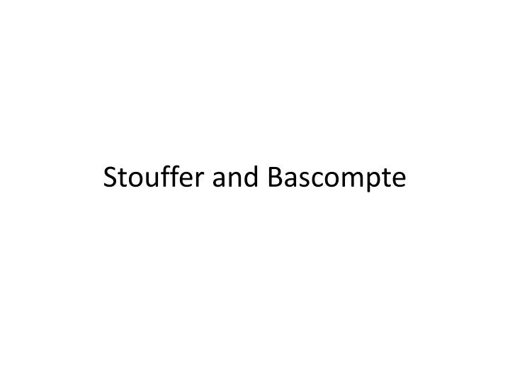 Stouffer and