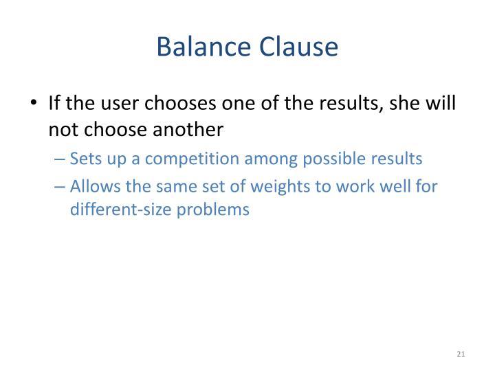 Balance Clause