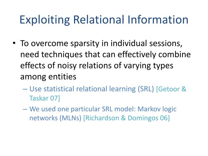 Exploiting Relational Information