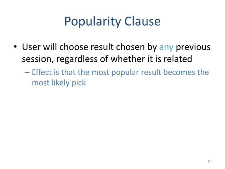 Popularity Clause
