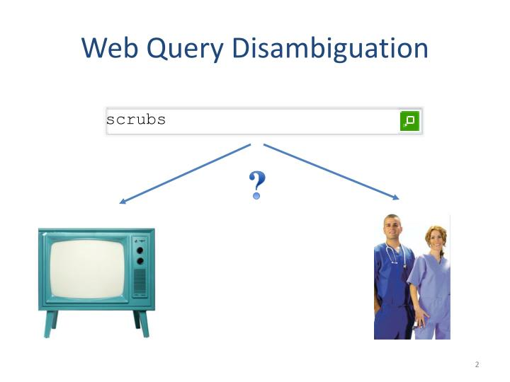 Web query disambiguation