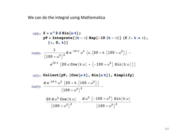 We can do the integral using Mathematica