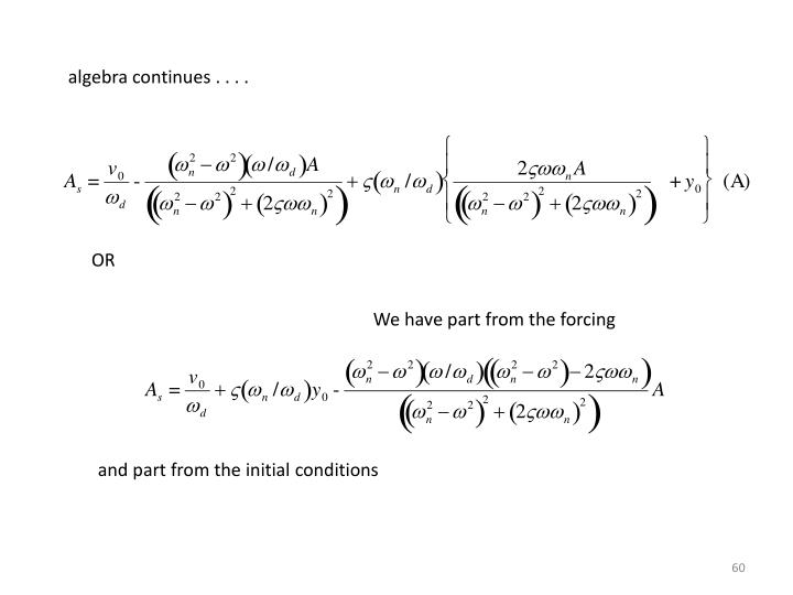 algebra continues . . . .