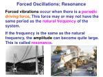 forced oscillations resonance