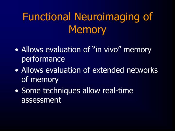 Functional Neuroimaging of Memory