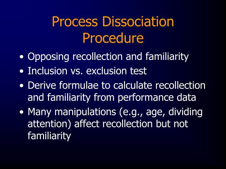 Process Dissociation Procedure