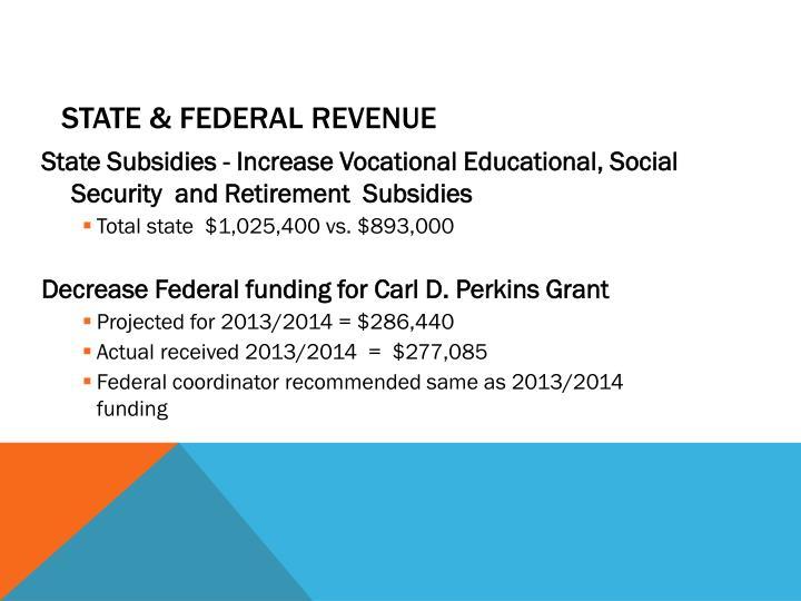 State & Federal Revenue