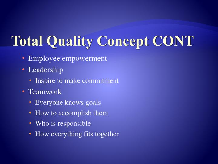 Total Quality Concept CONT