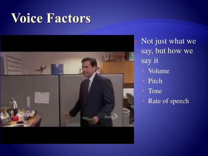 Voice Factors