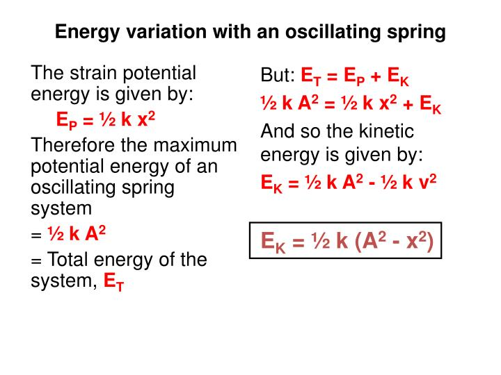 The strain potential energy is given by: