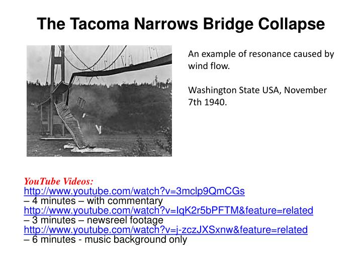 The Tacoma Narrows Bridge Collapse