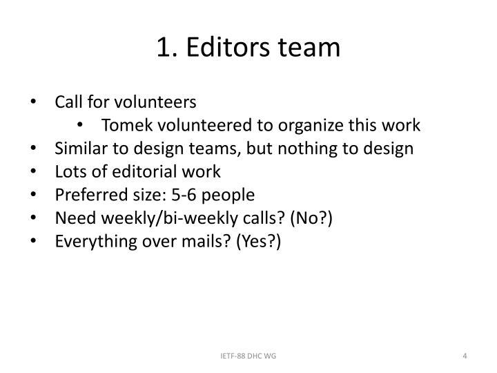 1. Editors team