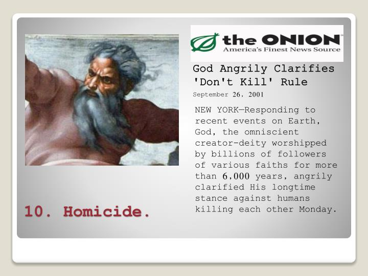 God Angrily Clarifies 'Don't Kill' Rule