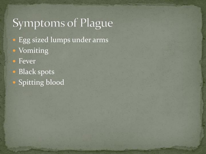 Symptoms of Plague